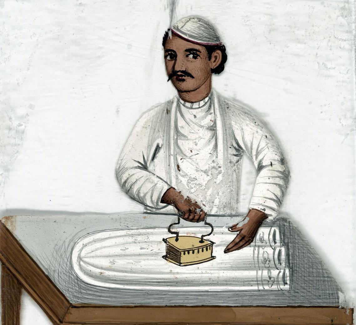 Ironing illustration