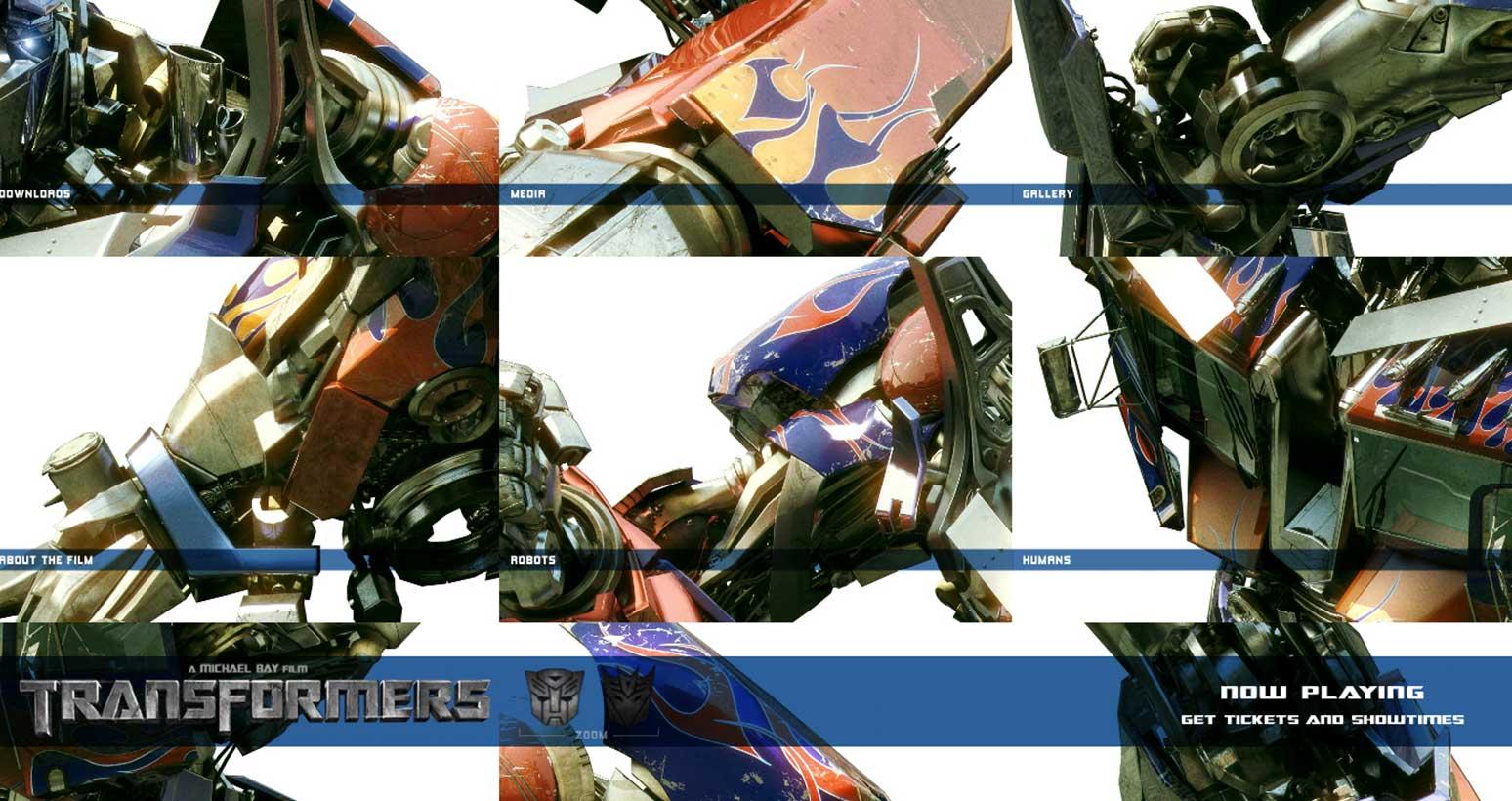 Transformers Movie Website