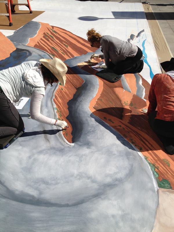 Cadillac ATS Augmented Reality Chalk Mural