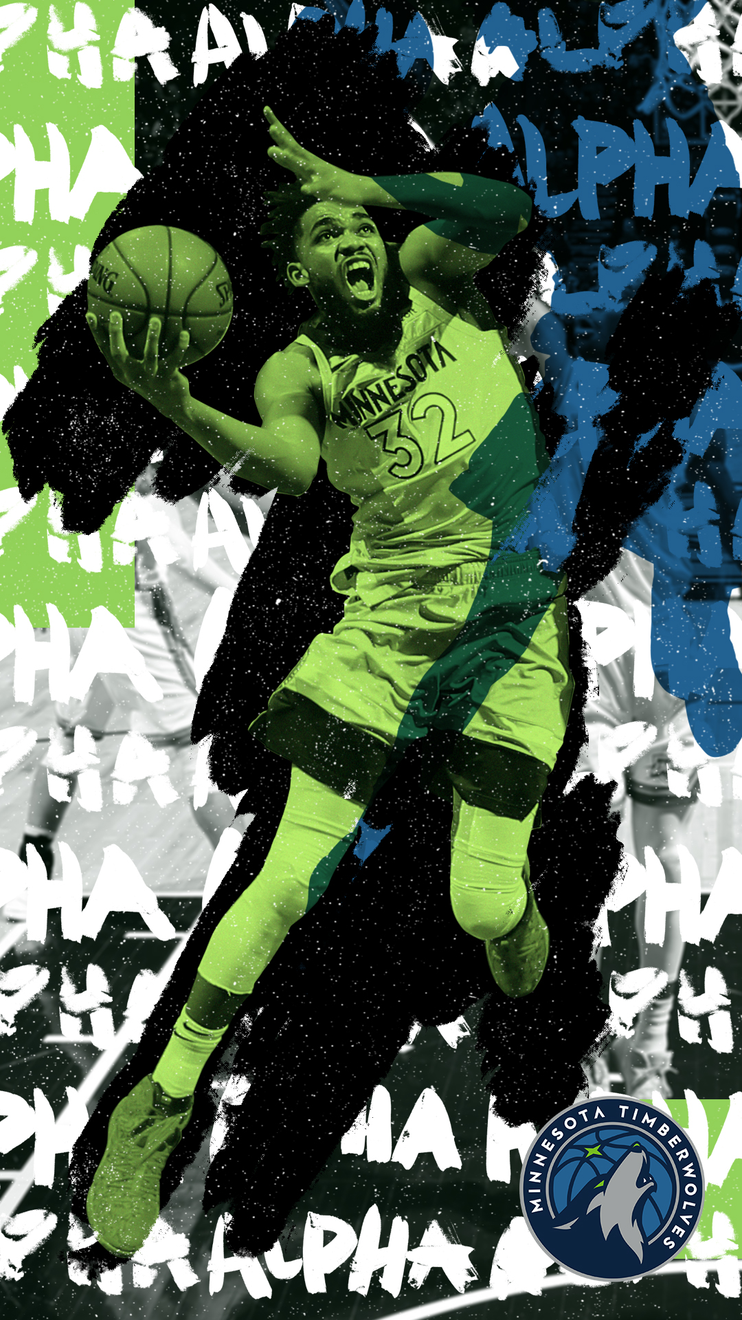 Minnesota Timberwolves Alpha Poster with Karl Anthony Townes