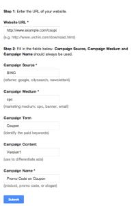 Campaign Tracking URL Builder - Google Analytics   IMA Interactive