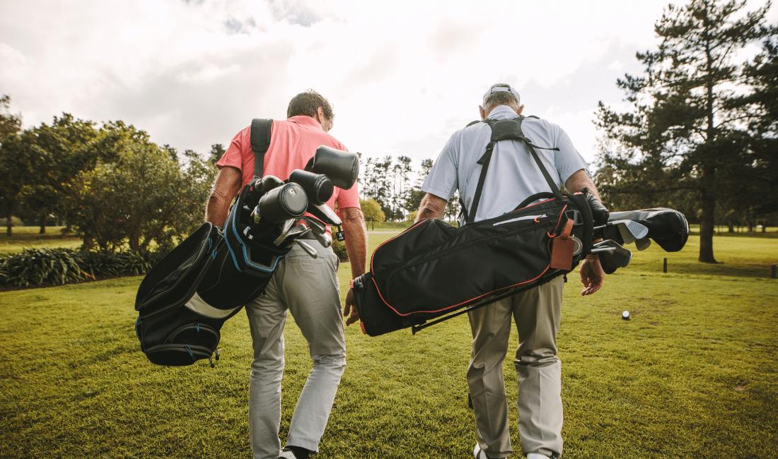 Senior Golfer after a Game of Golf
