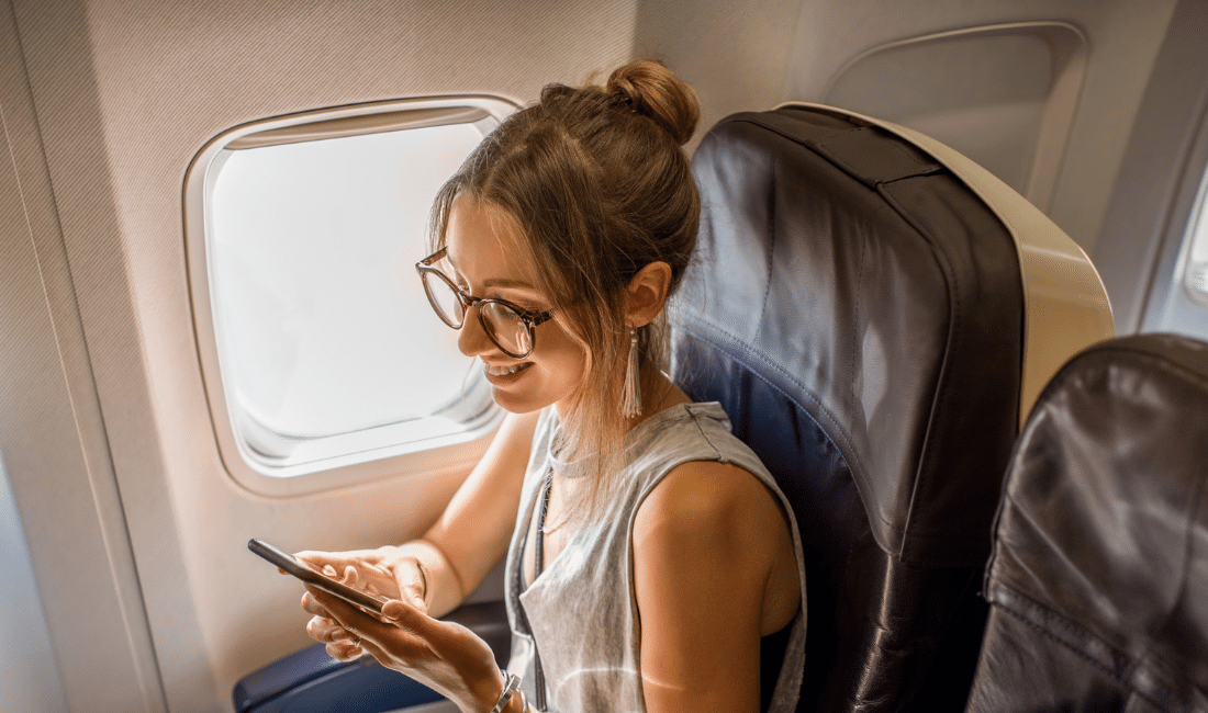 Woman in the Airplane