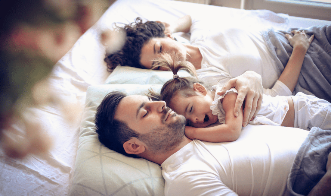 Happy family day dreaming