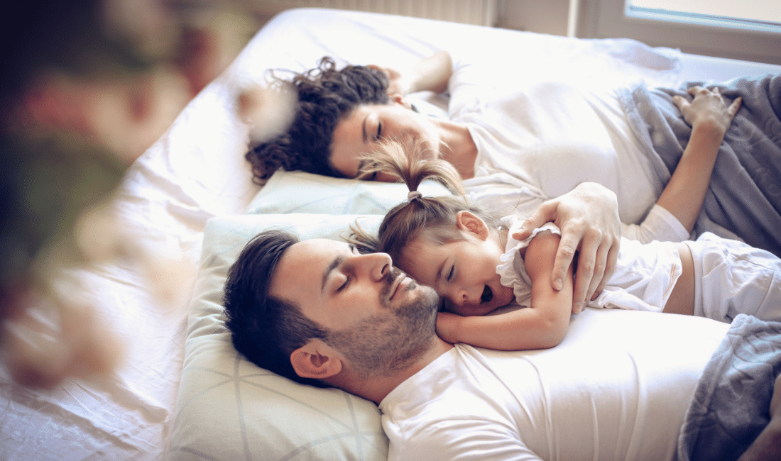 Time to day dreaming. Happy family.