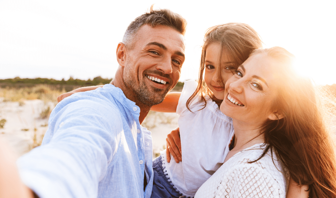 Happy Family Spending Good Time, as they pick a between a single vs. Joint Life Insurance.