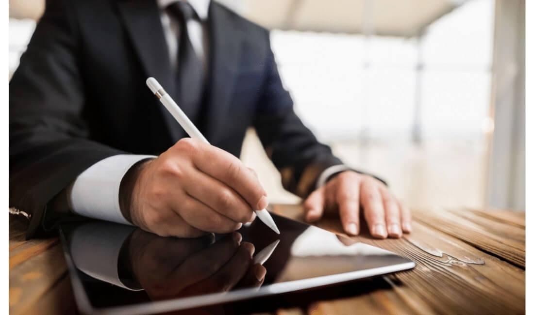 Digital signature of life insurance document