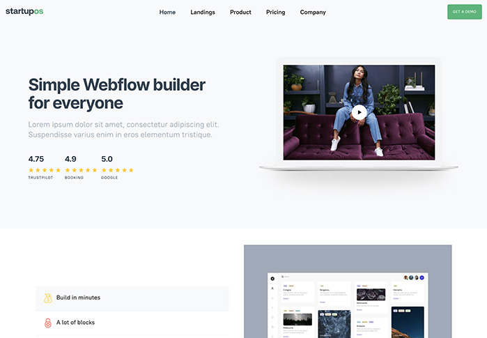 webflow startupos