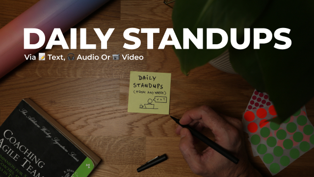 How to do an online daily stand-up (without disrupting your day)
