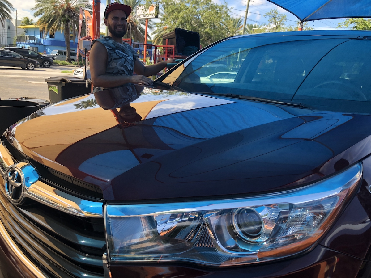 Stains removal from car seats in carpets in Miami
