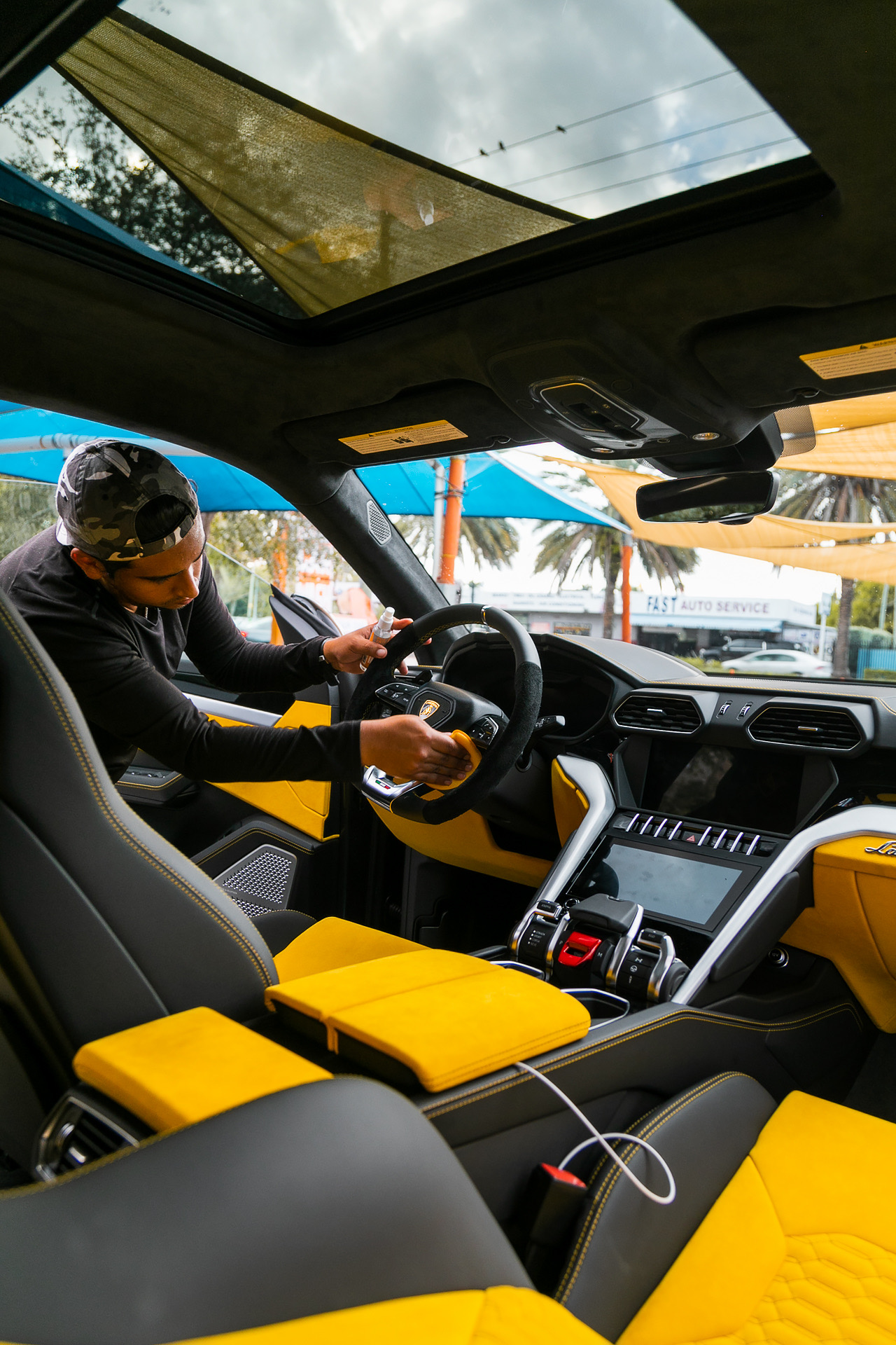 Car cabin protection coating installation in Miami