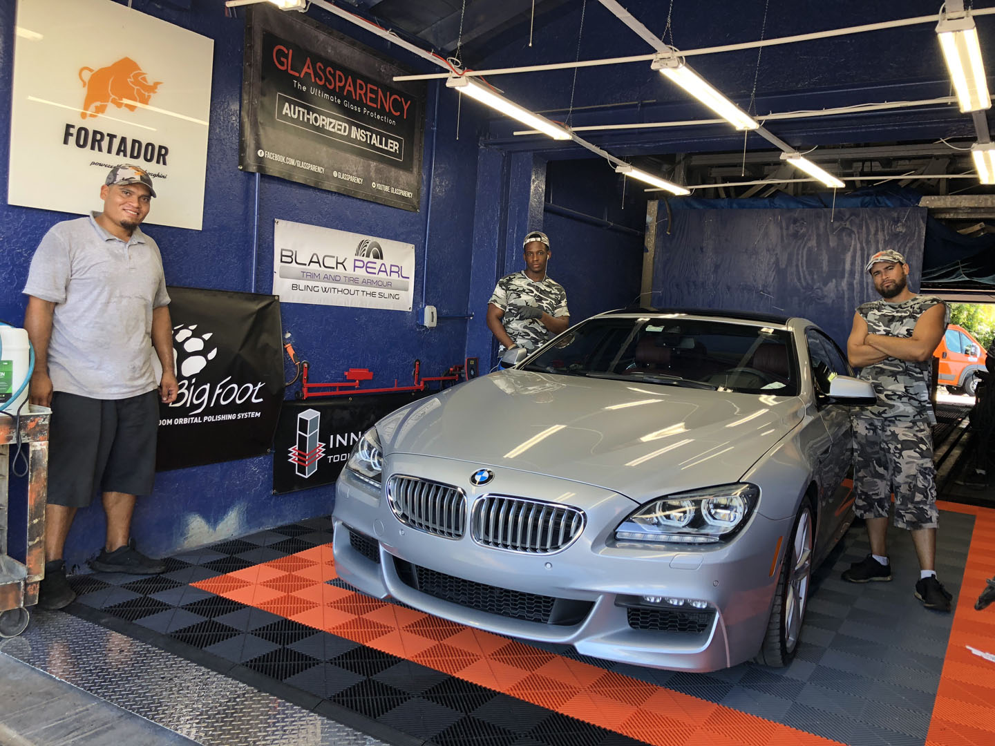 Car Detailing service with eco-friendly steam equipment