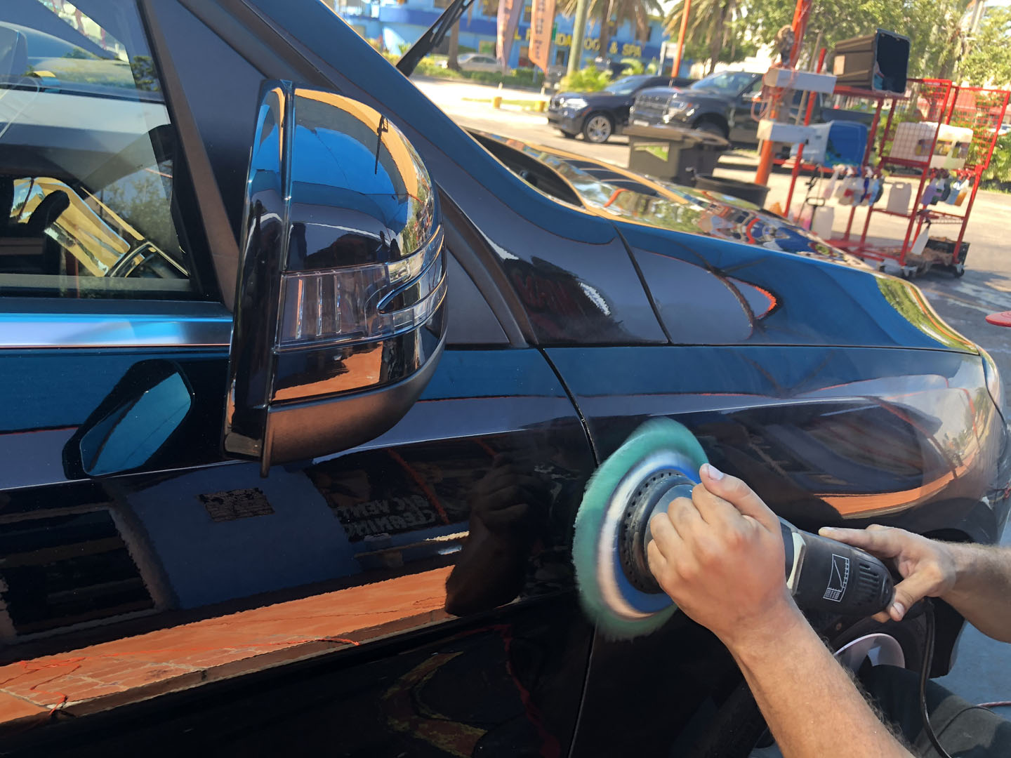 paint swirls reval with paint correction in MIami