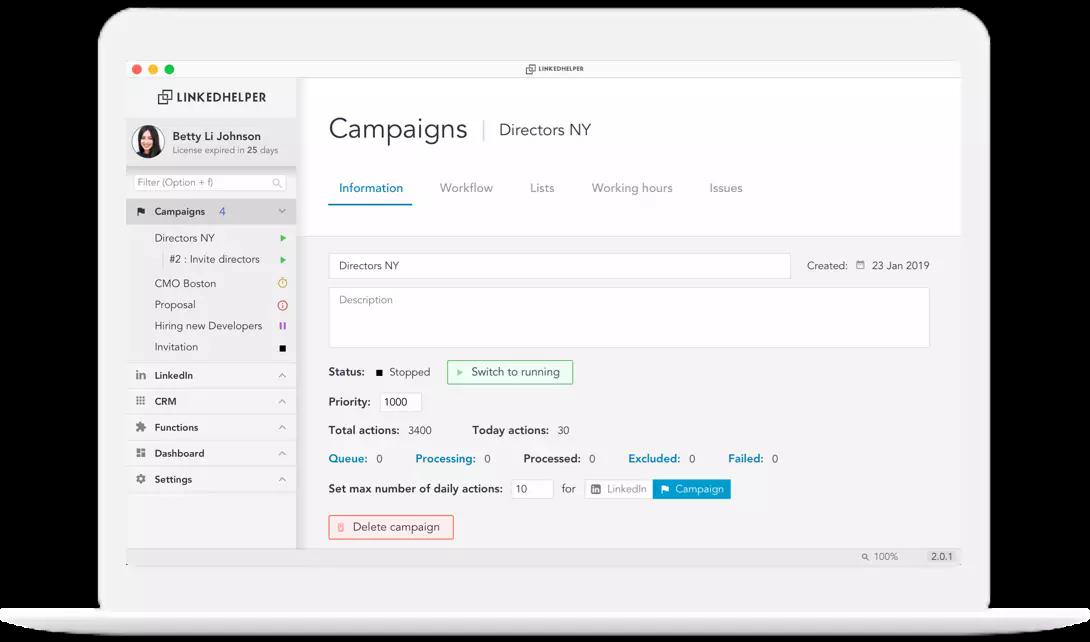 LinkedIn sales navigator tool
