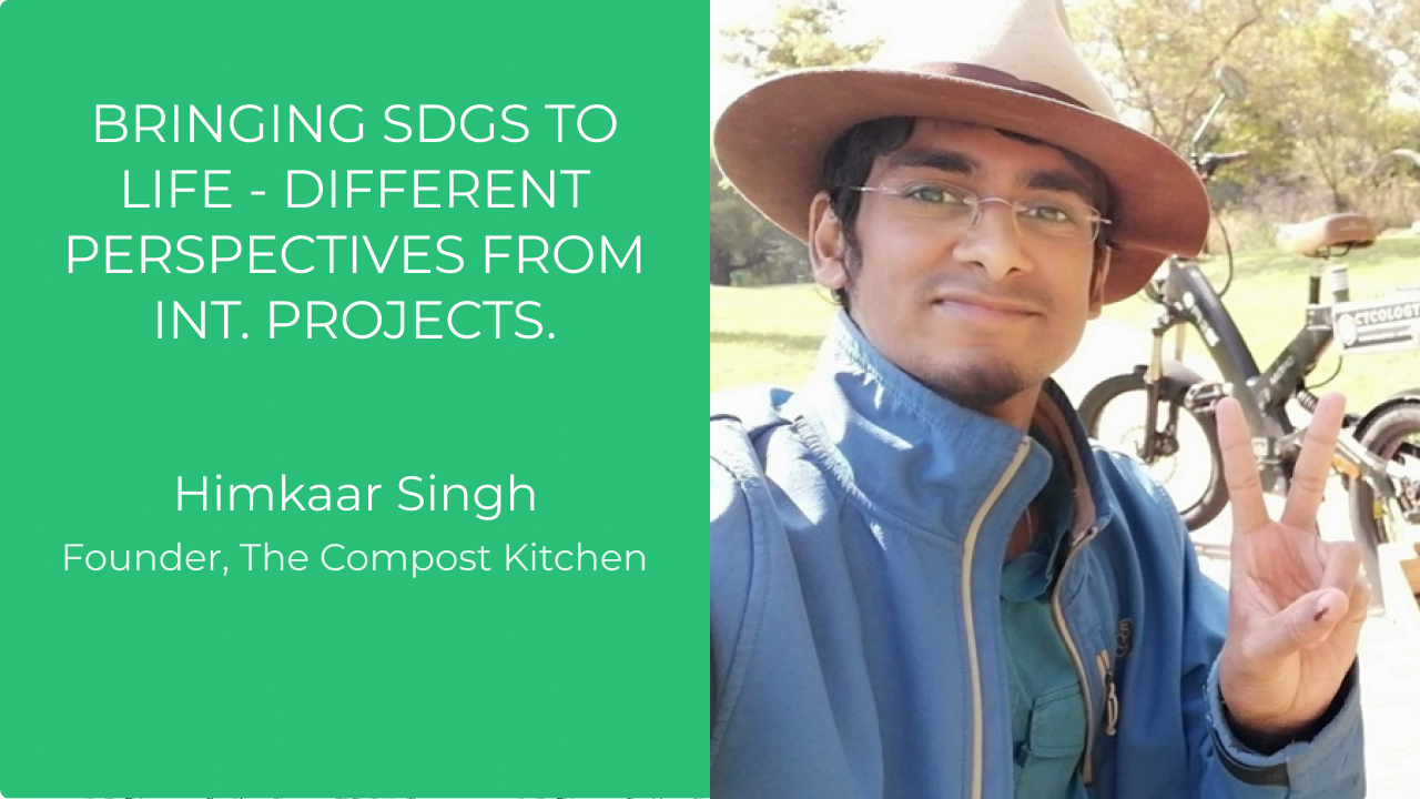 Bringing SDGs to life - Different perspectives from int. projects.