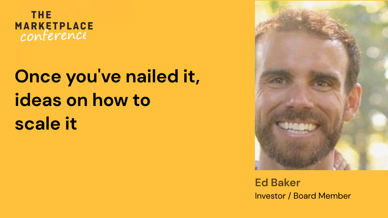 Once you've nailed it, ideas on how to scale it