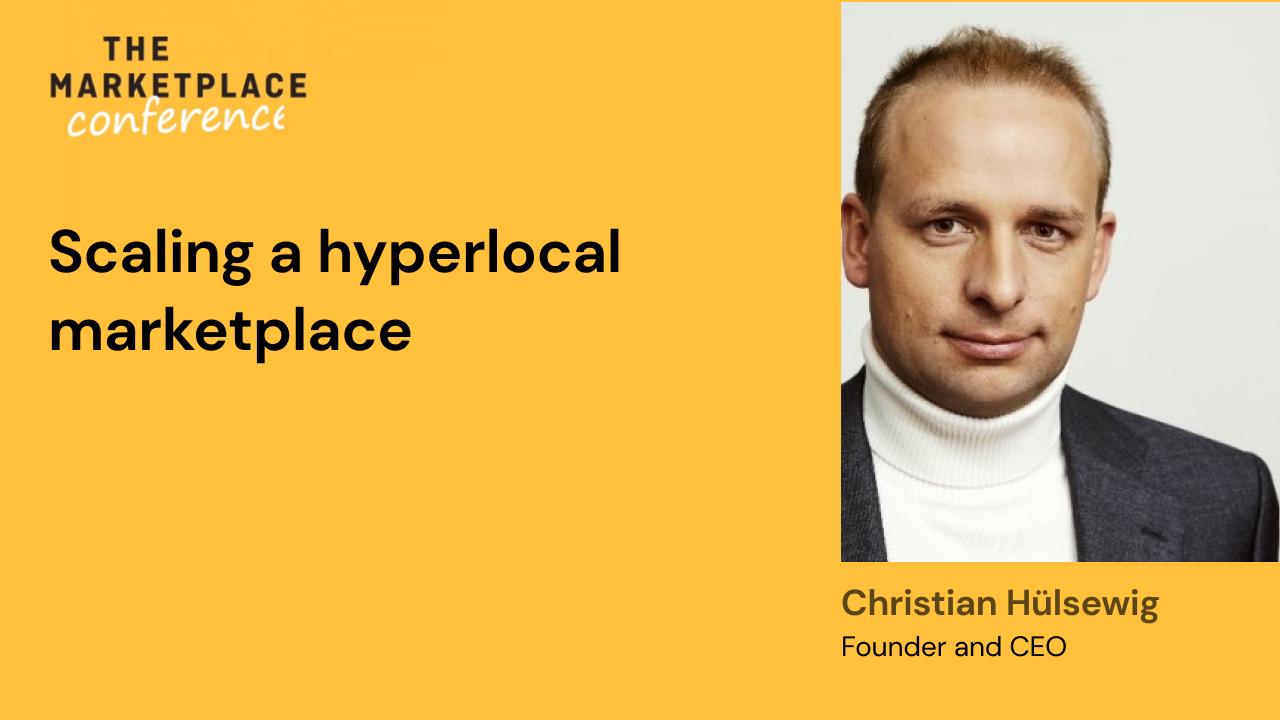 Scaling a hyperlocal marketplace