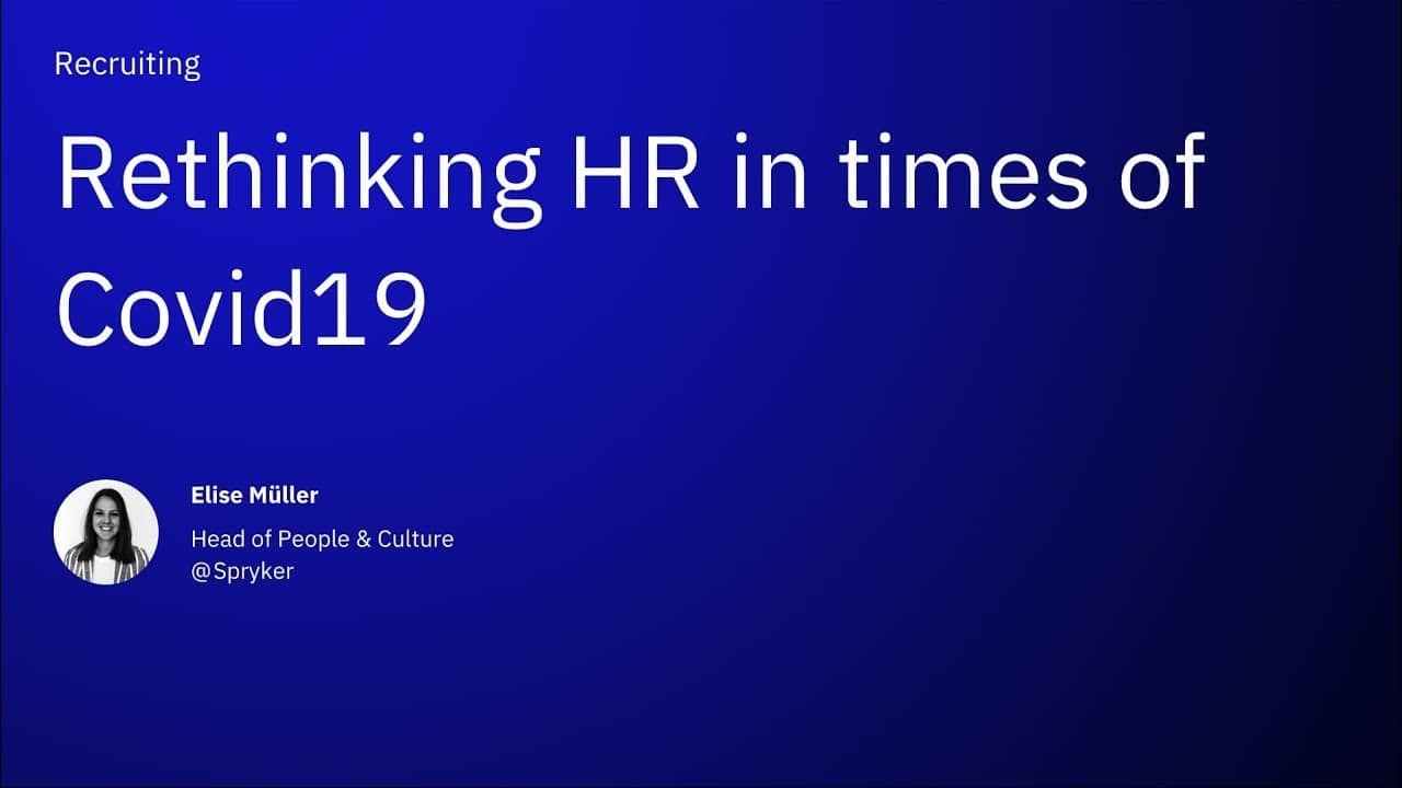 Rethinking HR in times of Covid19