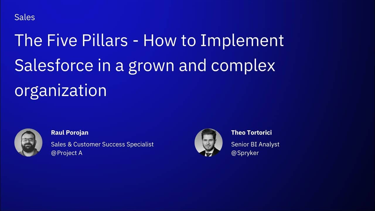 The Five Pillars - How to Implement Salesforce in a grown and complex organization