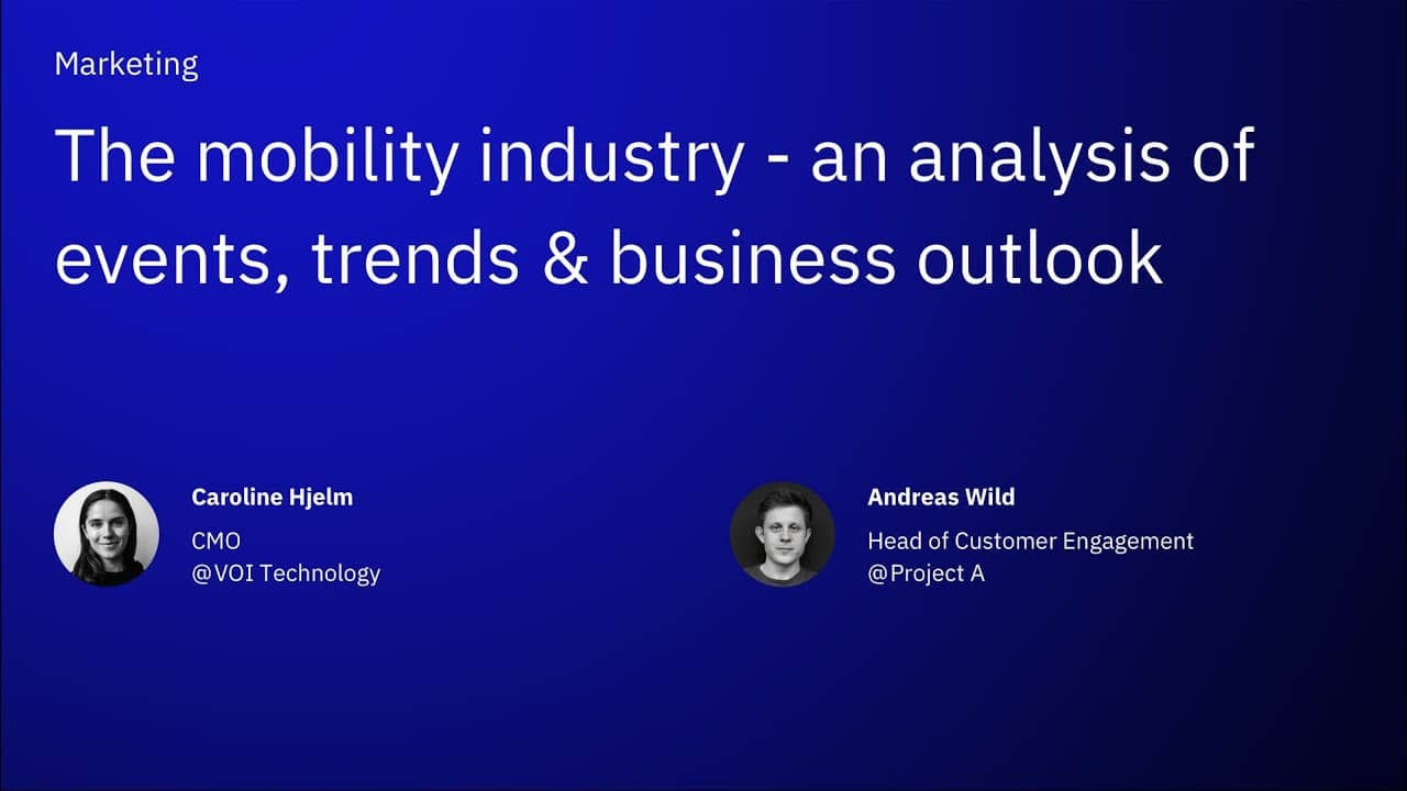 The mobility industry - a analysis of events, trends & business outlook