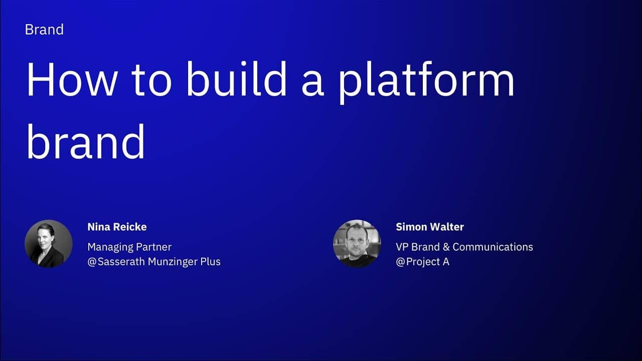 How to build a platform brand