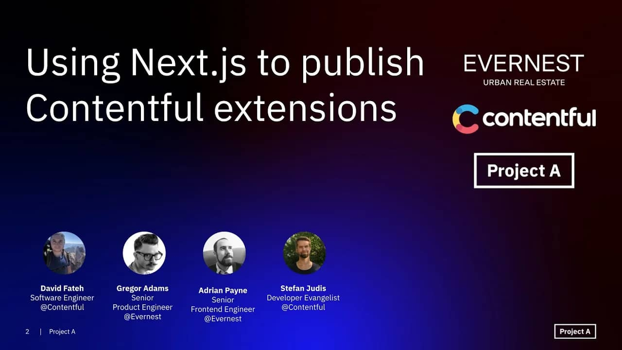 Tech Insights: Using Next.js to publish Contentful extensions