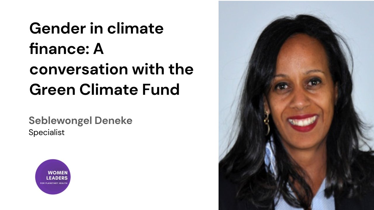Gender in climate finance: A conversation with the Green Climate Fund