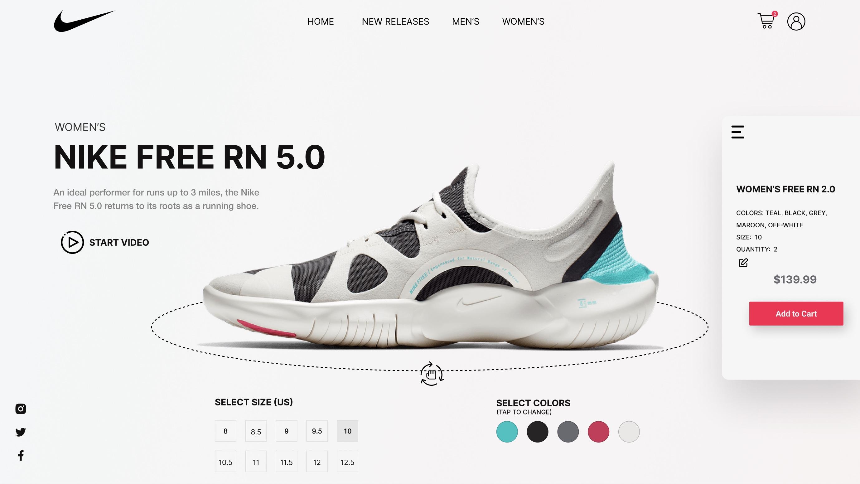 Nike App Redesign Light Mode