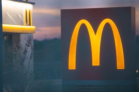 Mcdonald Logo at dusk