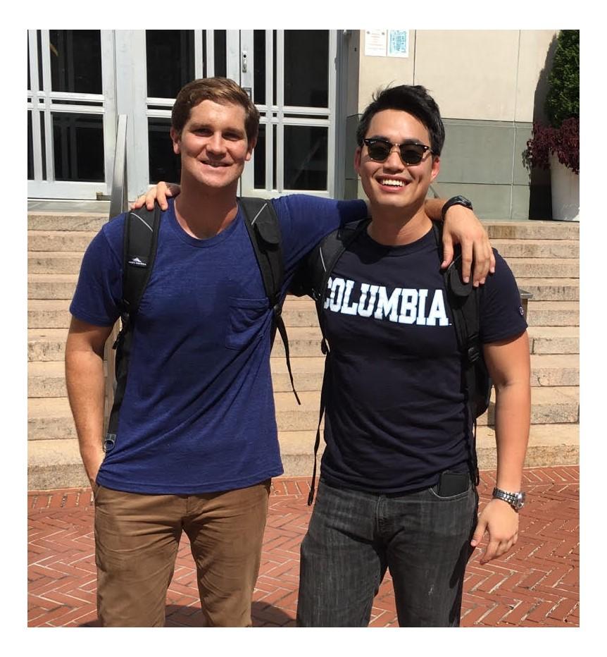Sam and Chris at Columbia