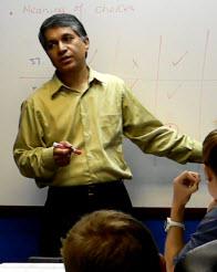 Dr. Amar teaching the GRE Math Review class