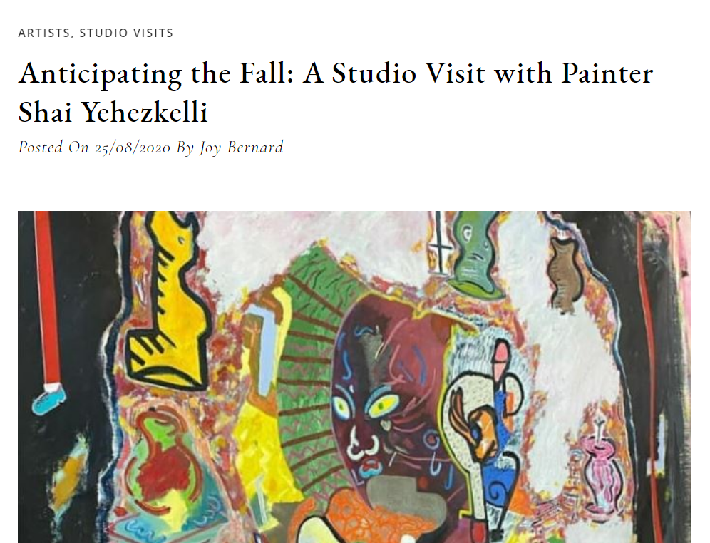 Anticipating the Fall: A Studio Visit with Painter Shai Yehezkelli
