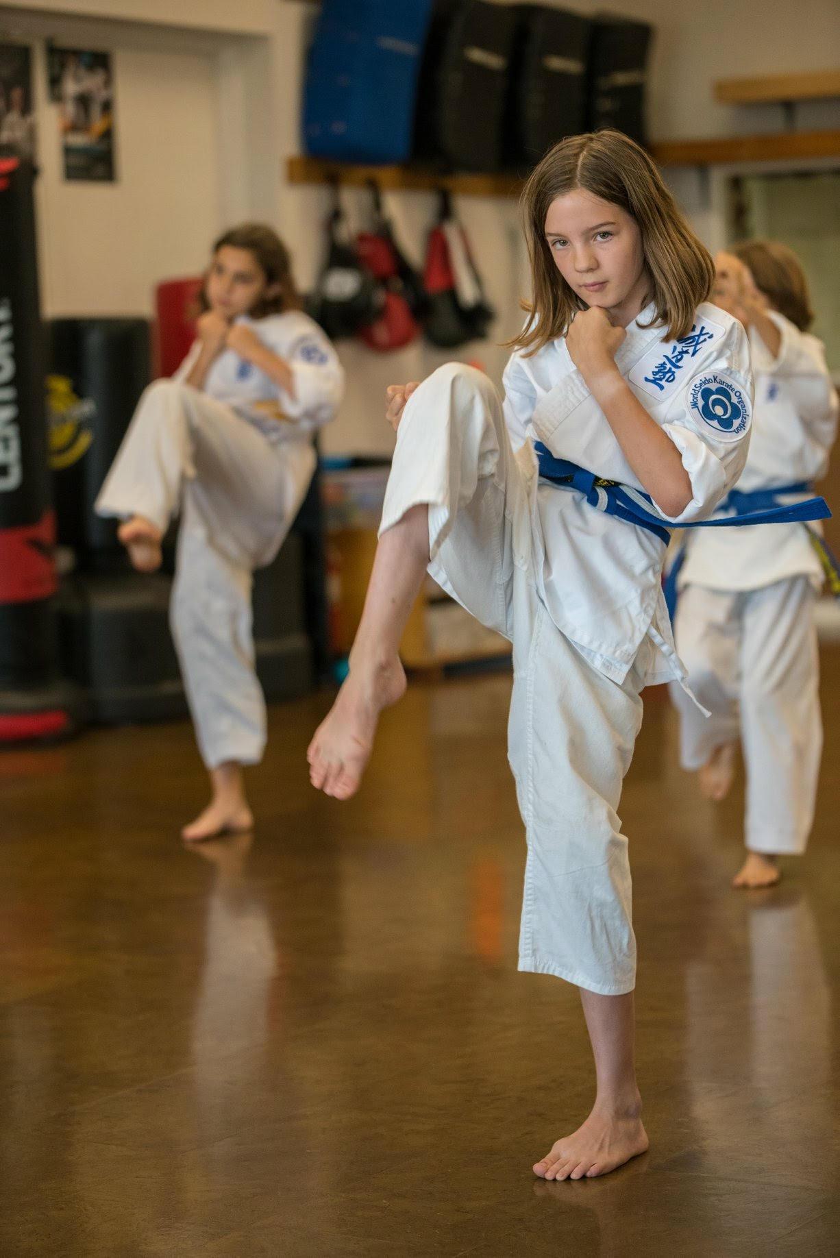 Female child knee kick