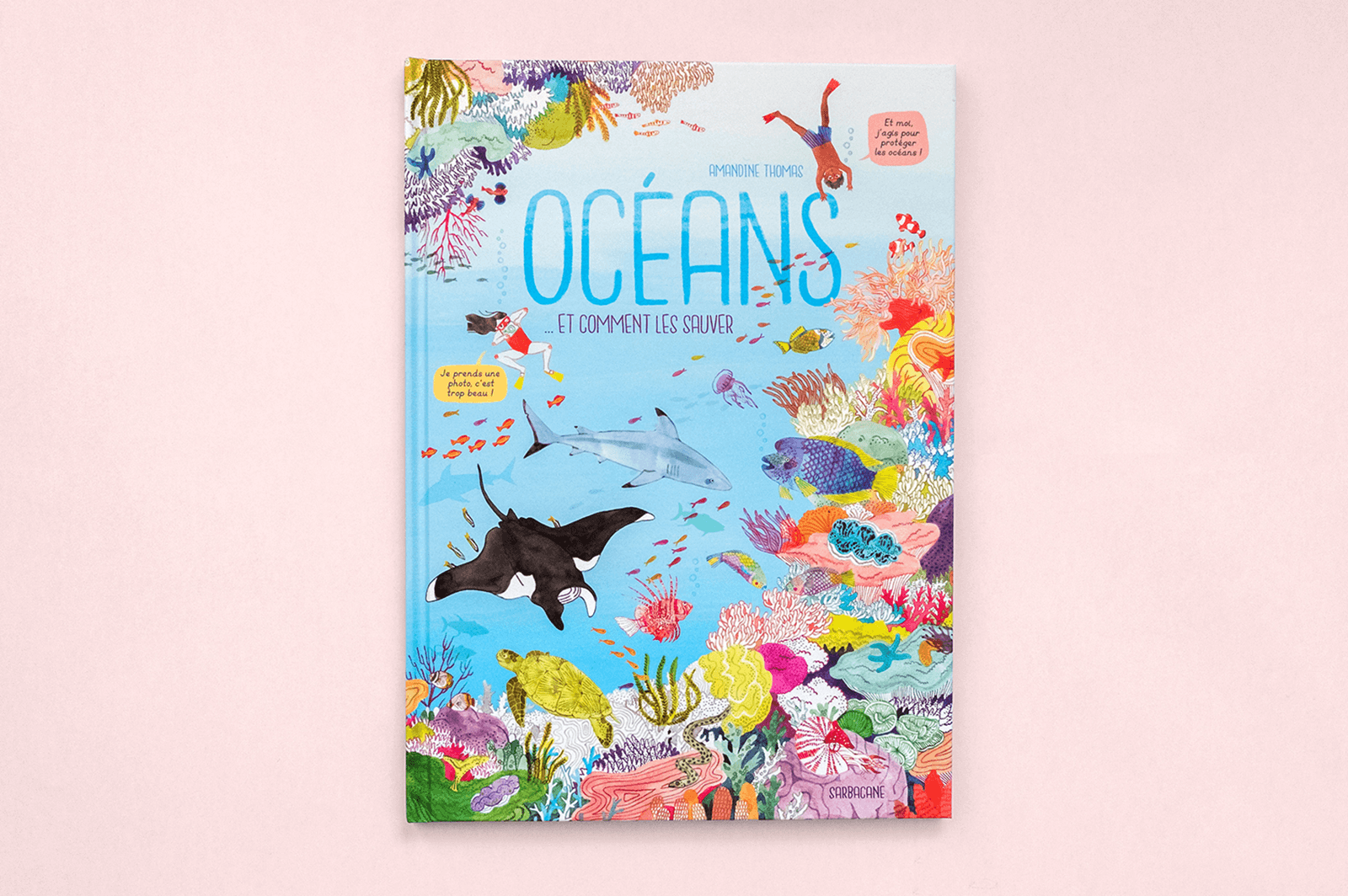 Colourful kids' book about saving the oceans
