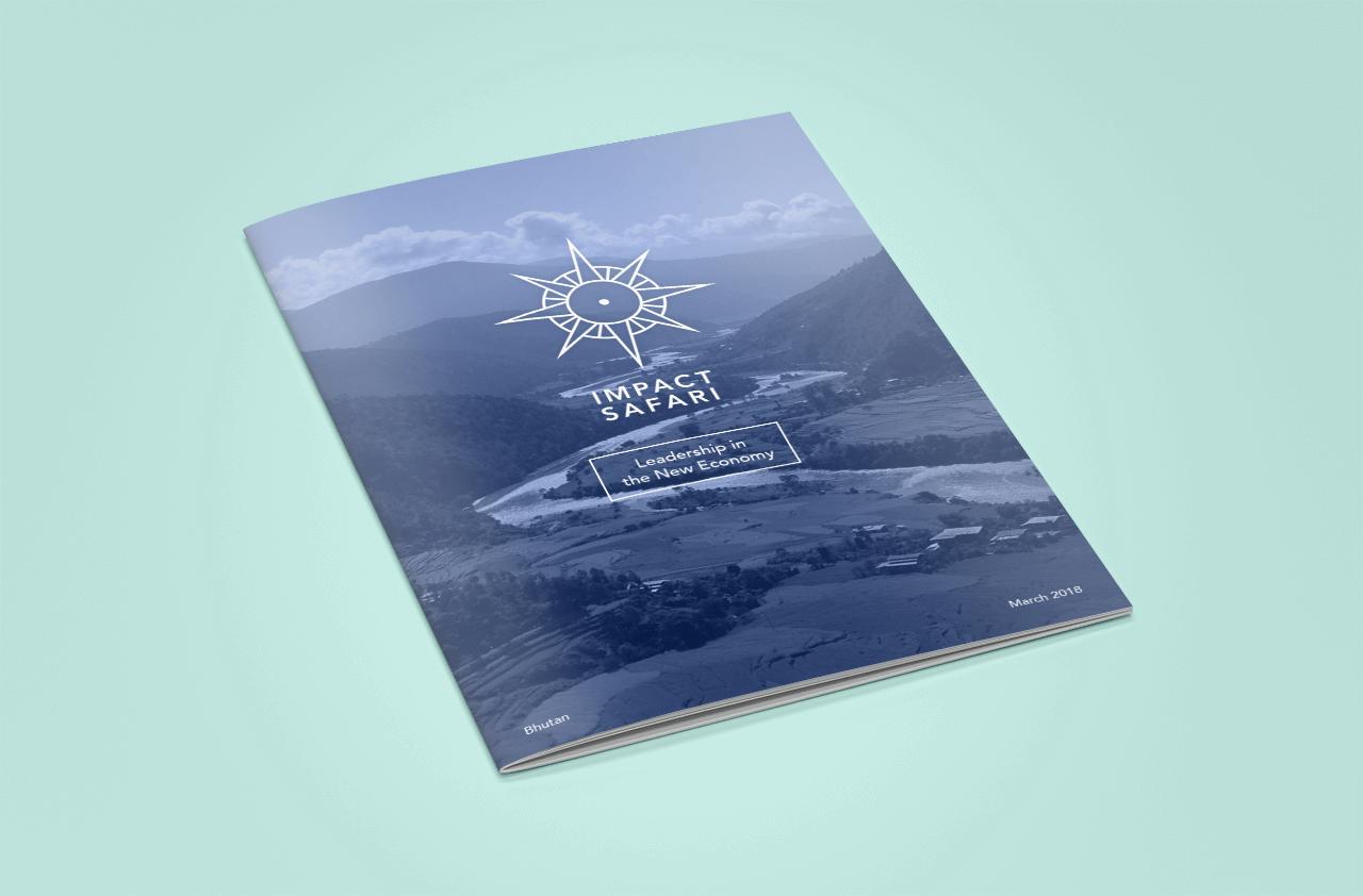 Cover of the program for Impact Safari Bhutan