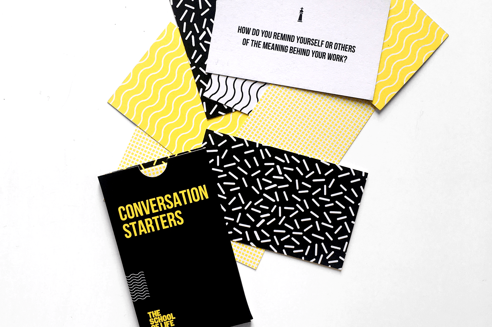 Conversation starter cards from The School of Life