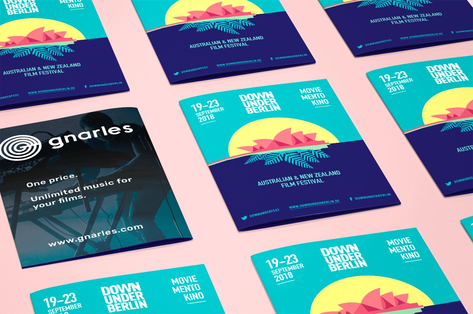 Printed program for Down Under film festival 2019