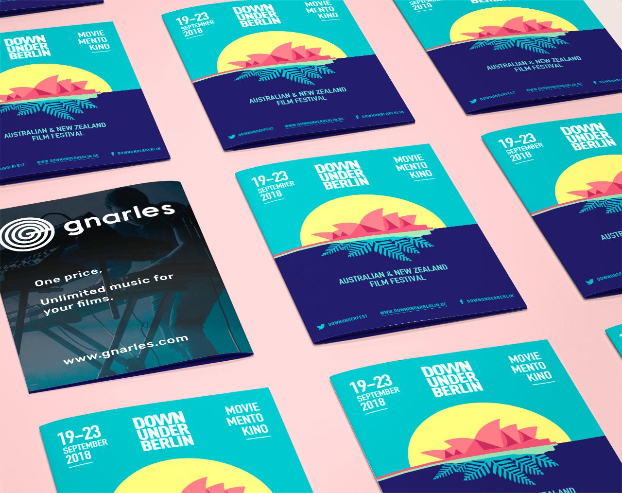 Graphic design for the Down Under Berlin film festival
