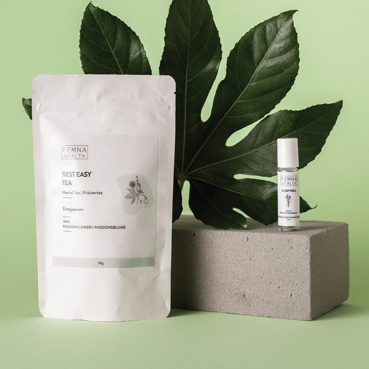 Packaging for Femna's wellbeing products