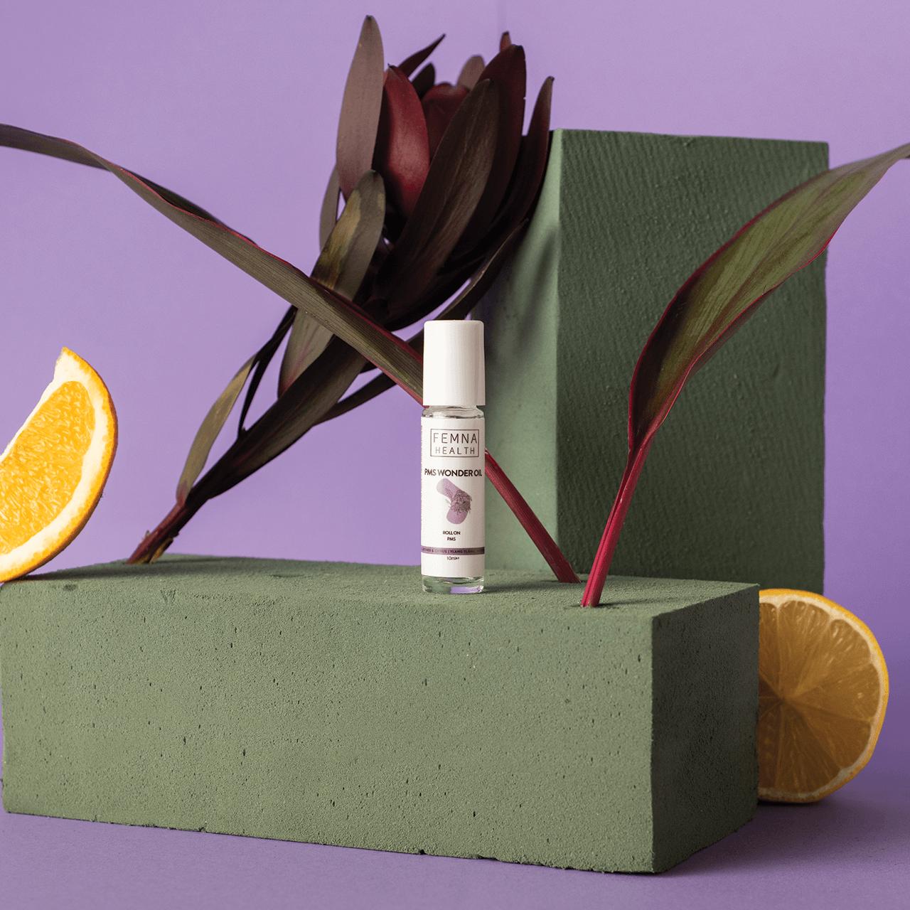 Packaging for Femna's roll on oils