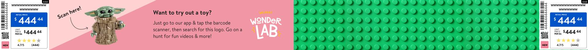 digital shelf label design for lego
