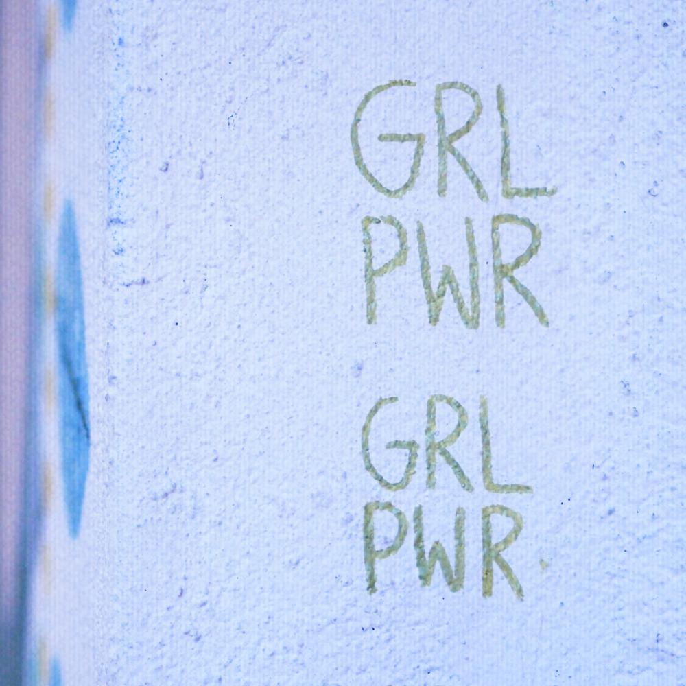 Girl Power graffiti on wall