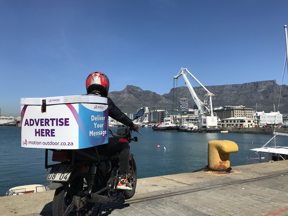 Scooter with a view of Table Mountain