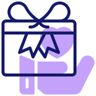 Branded Top-box Fin Icon