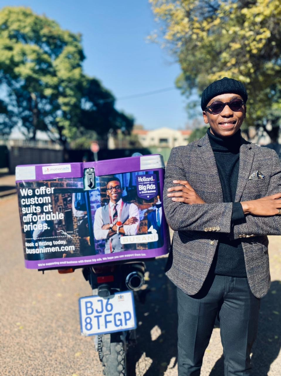 BusaniMen Gets into High Gear with Hollard's Big Ads for Small Business, and MotionAds