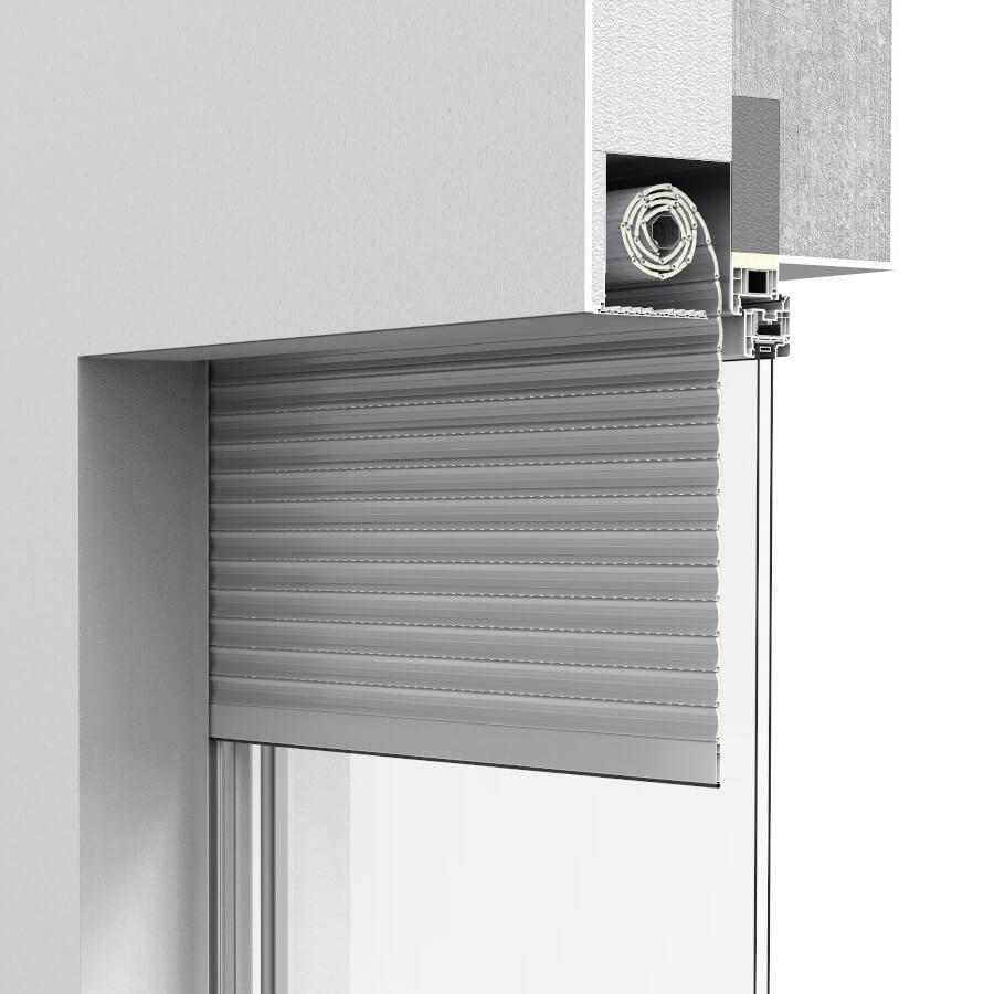 under-plaster roller shutters system