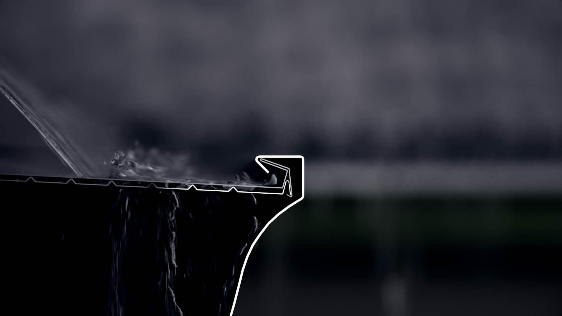 Système de retenu d'eau d'un protège-gouttière