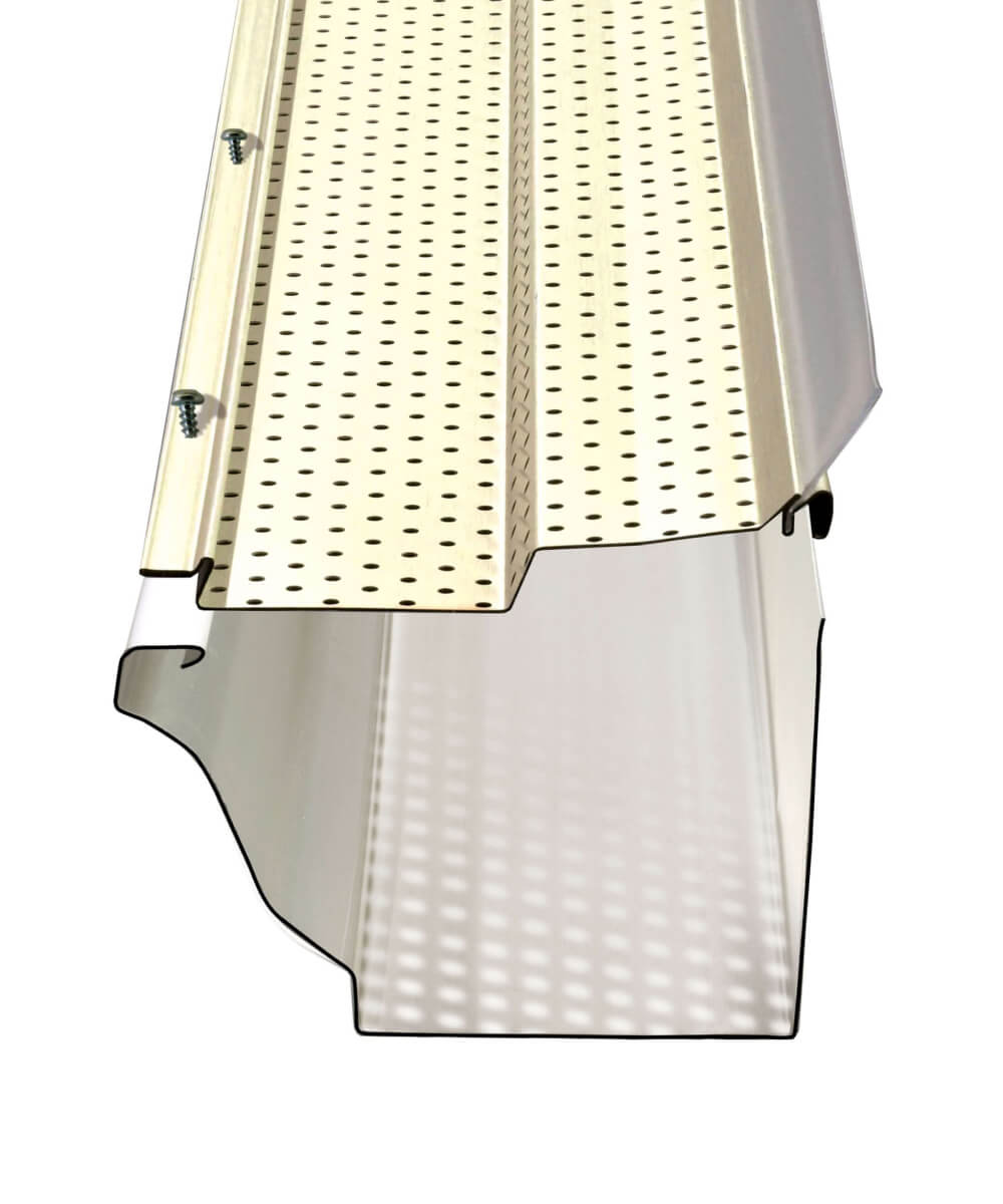 Illustration du protège-gouttière Alurex Gutter Clean M53ZIP