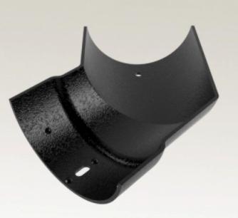 Cast Aluminium Half Round 135° External Angle Gutter