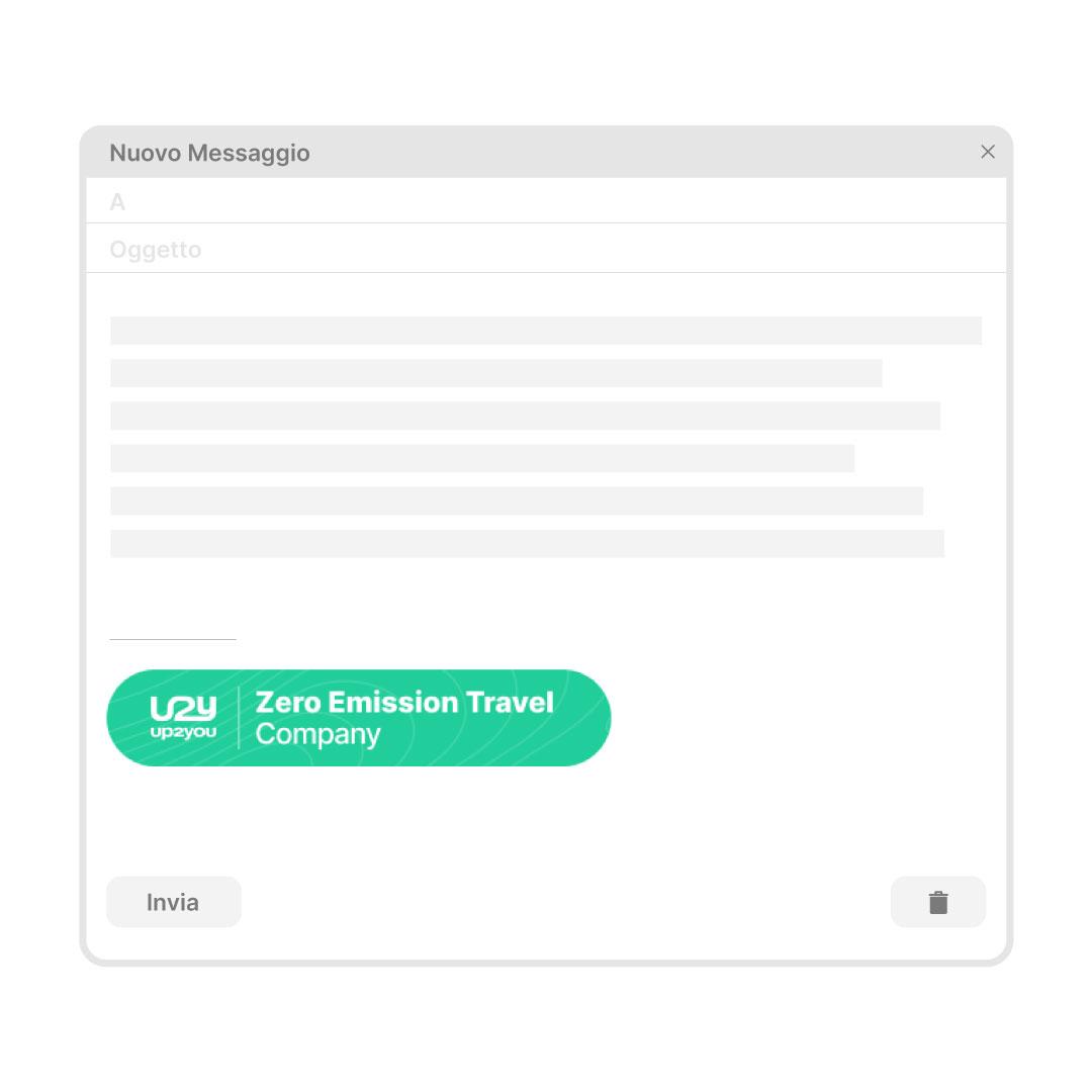 Email badge come asset comunicativo fornito da Up2You